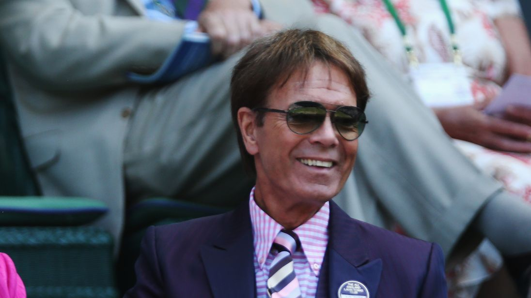 Sir Cliff Richard pictured at Wimbledon in 2014