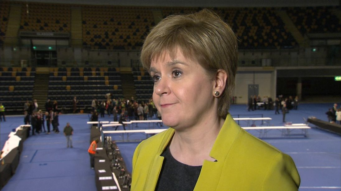 Nicola Sturgeon reacts to SNP performance in local elections