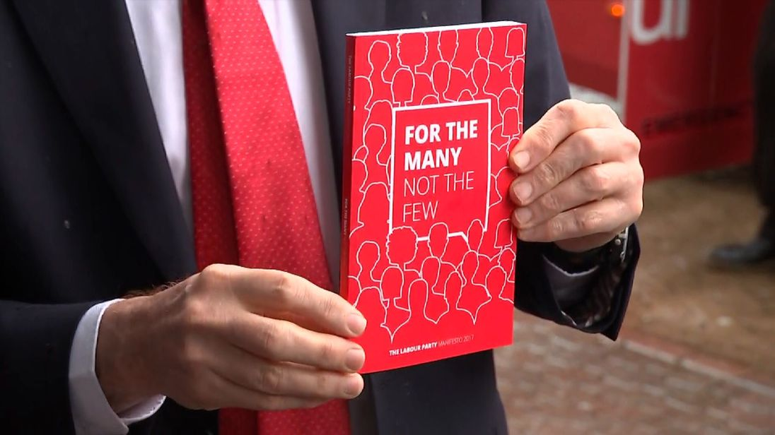 Jeremy Corbyn has launches Labour's election manifesto