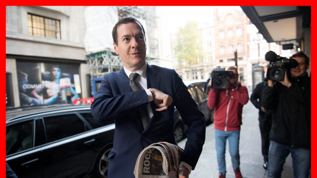 George Osborne arrives for his first day in the editor's chair at the Evening Standard