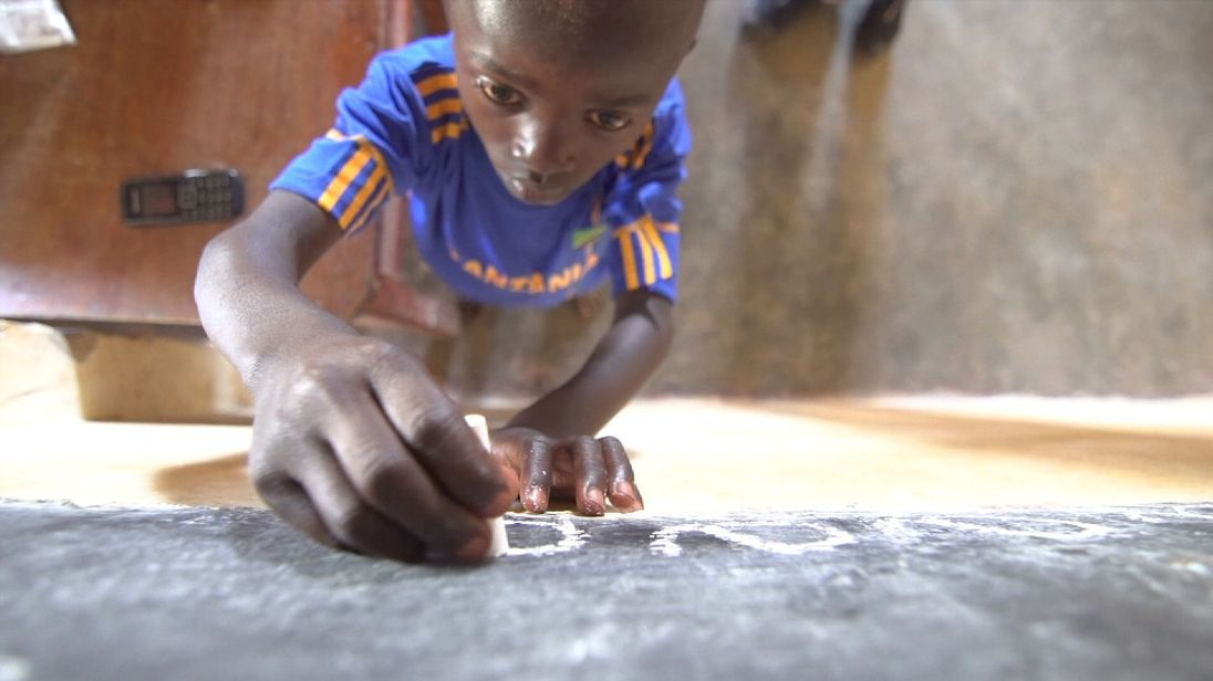 Child cobalt miner Dorsen has now been given the opportunity to go to school