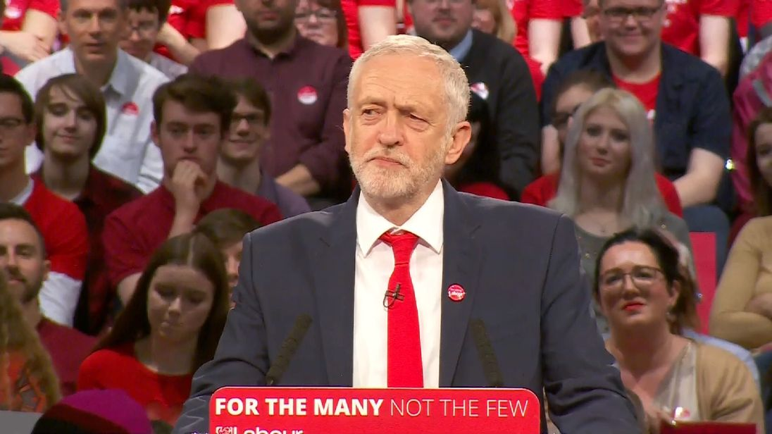 Labour Leader Jeremy Corbyn spoke to supporters in Birmingham