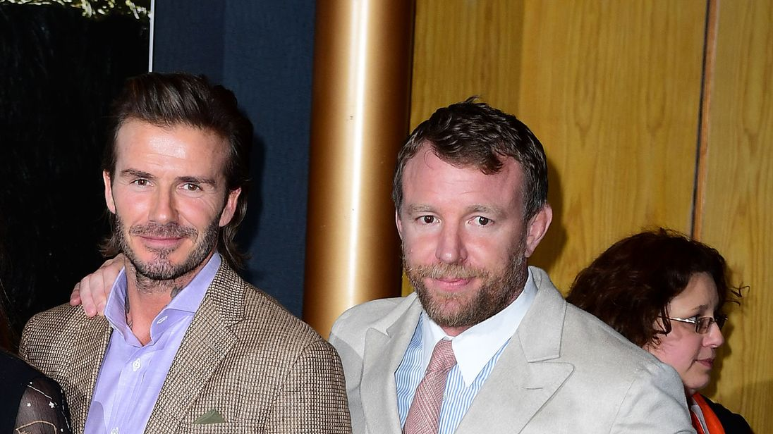 David Beckham and Guy Ritchie