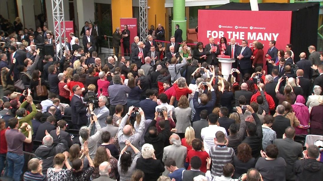 Labour launch their manifesto for 2017 General Election