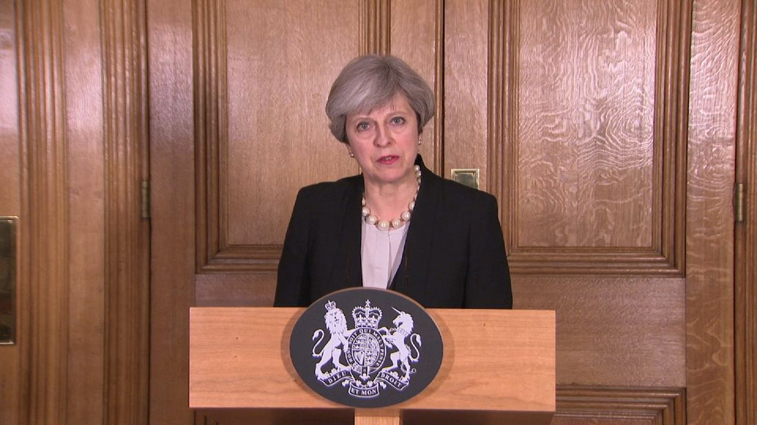 Theresa May announces that the terror threat level has been increased to critical