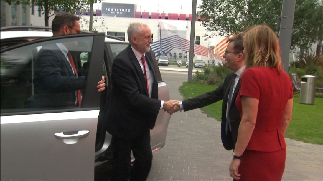 Jeremy Corbyn arrives ahead of The Battle For Number 10 TV event