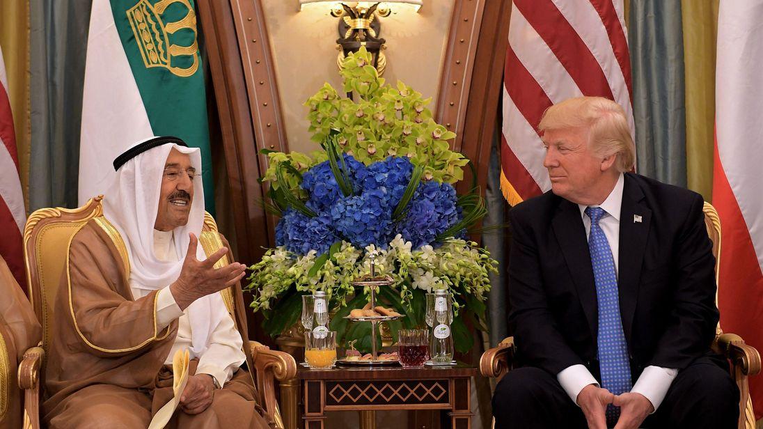US President Donald Trump and Kuwait's Emir Sheikh Sabah al-Ahmad al-Jaber al-Sabah