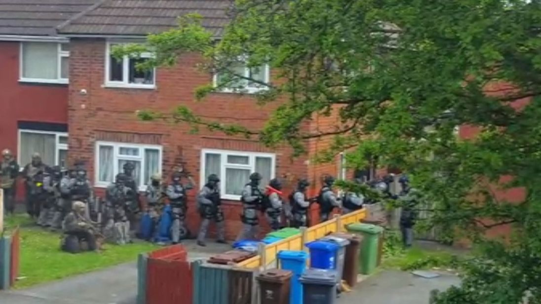 Anti-terror police raid the Manchester home of suspected arena bomber