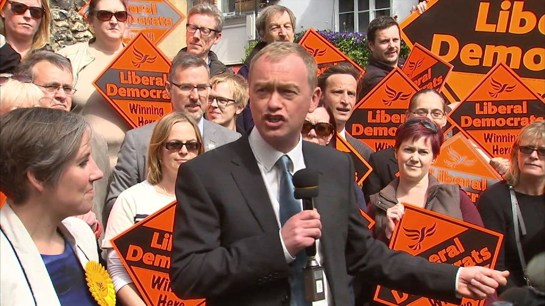 Tim Farron hopes to double the Liberal Democrat presence in parliament after the next General Election
