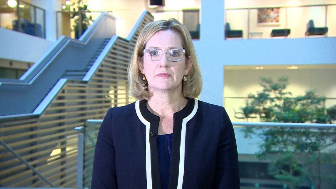 Home Secretary Amber Rudd says the terrorists will not divide us