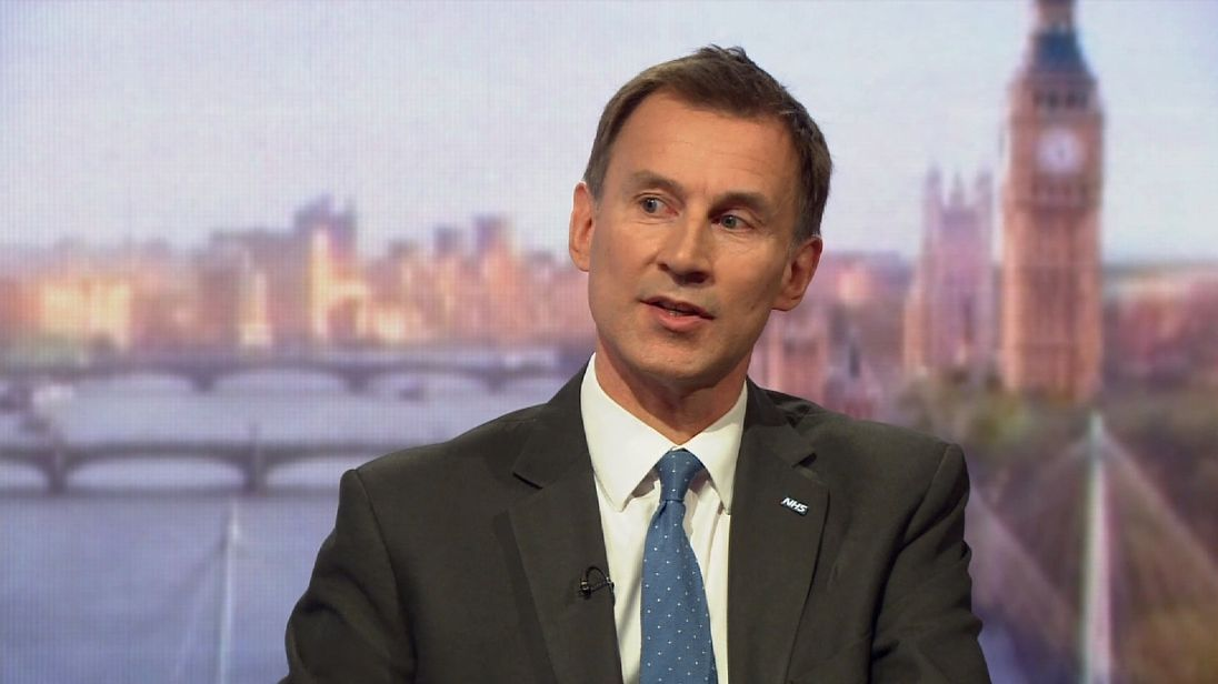 Jeremy Hunt says the Conservatives want to stop people losing their jobs if they have a mental health disorder