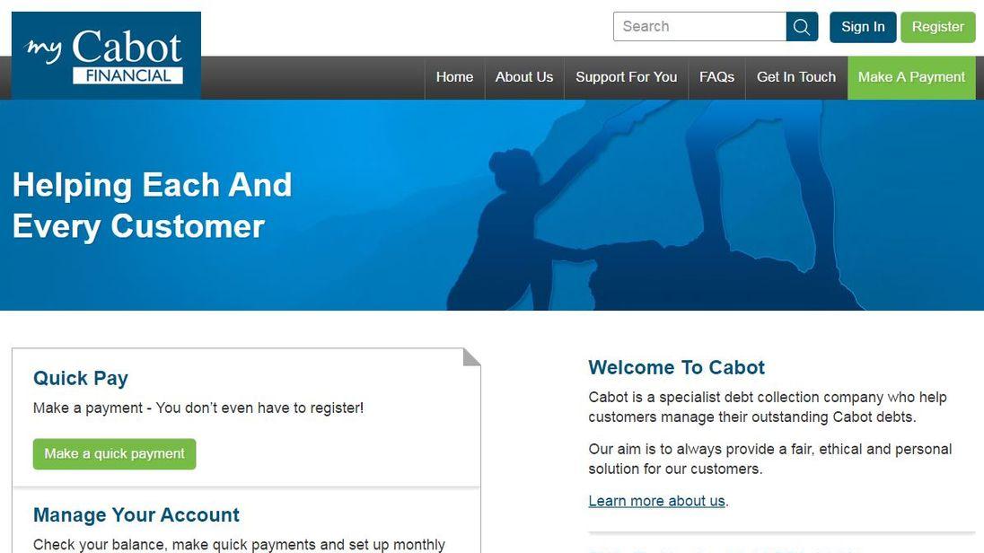 Cabot website screengrab