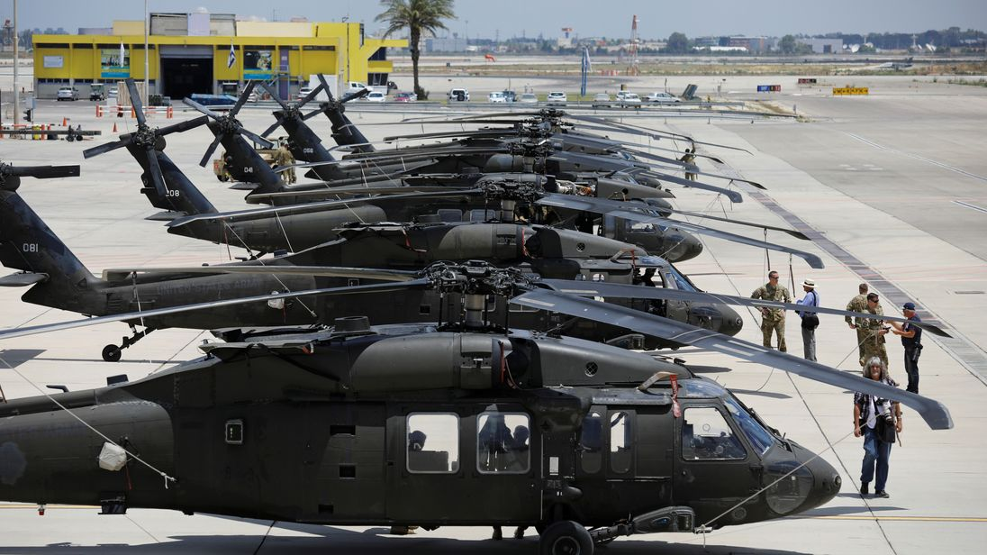 US Black Hawk helicopters