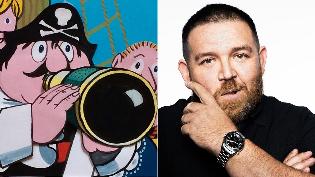Captain Pugwash and Nick Frost