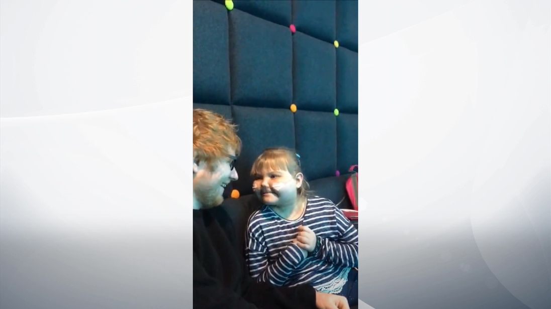 Ed Sheeran's private gig for superfan