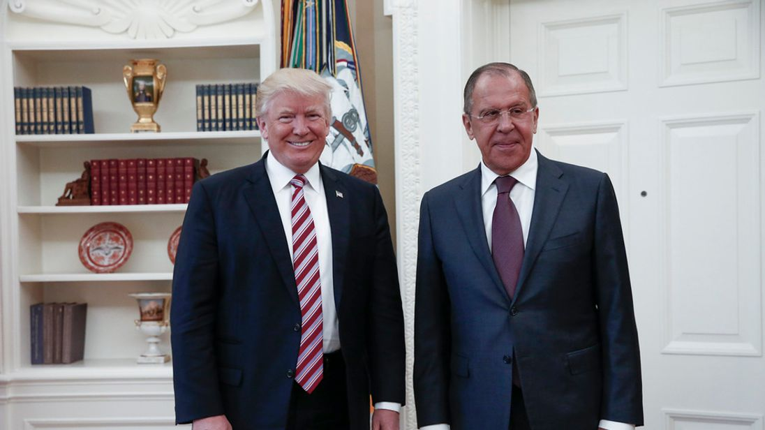 Russian Foreign Minister Sergey Lavrov and President Trump at the White House. MFA Russia