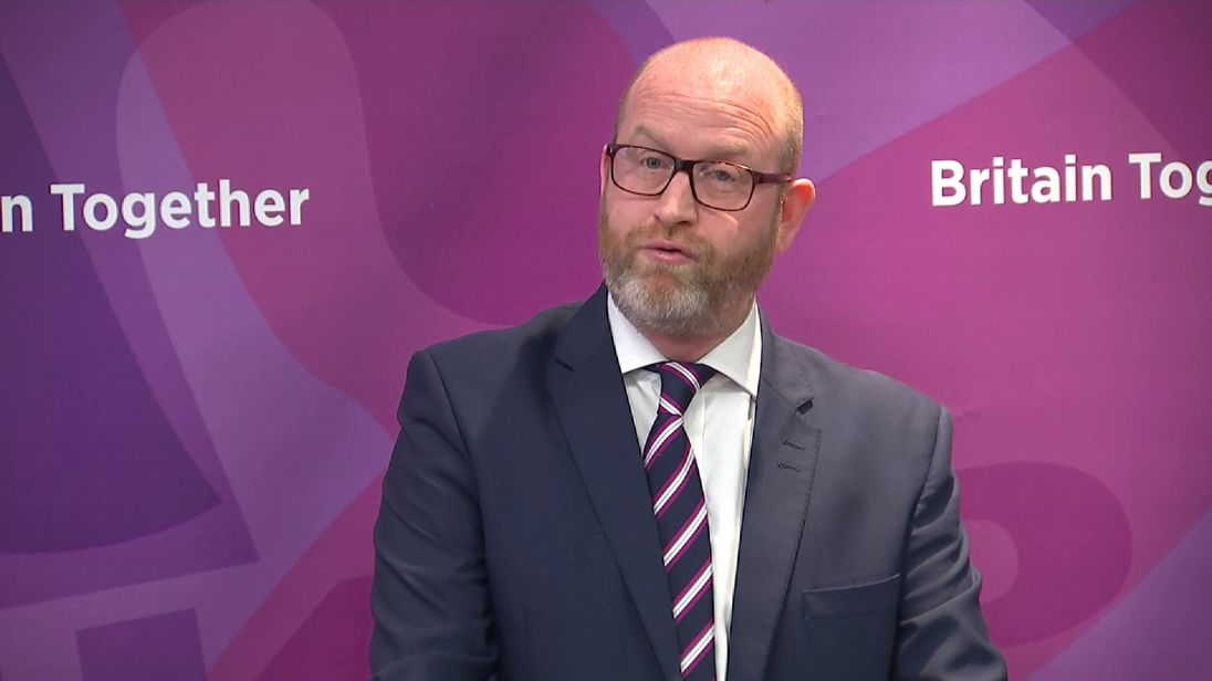 UKIP leader Paul Nuttall at the party's manifesto launch