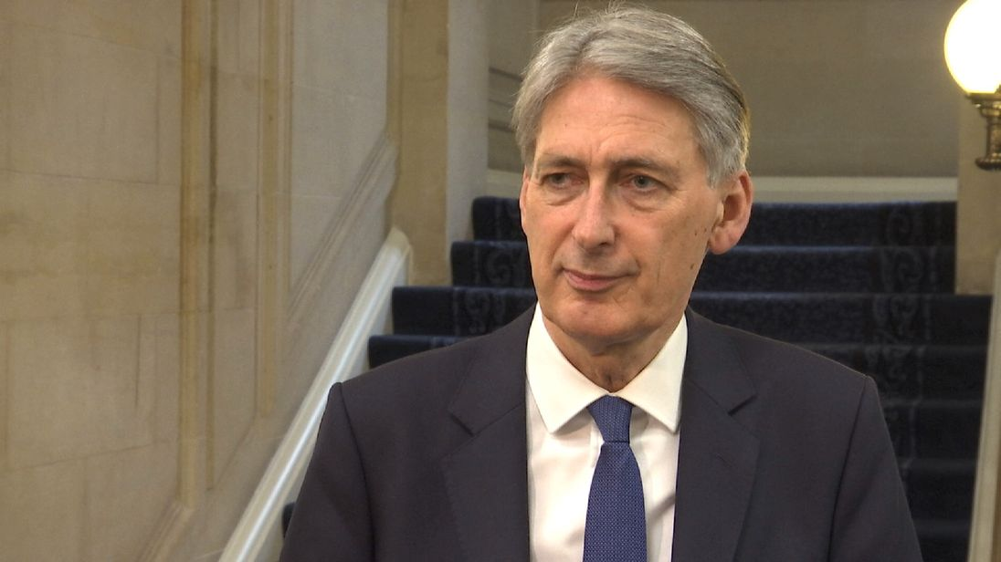Philip Hammond says there is a black hole in Labour's figures