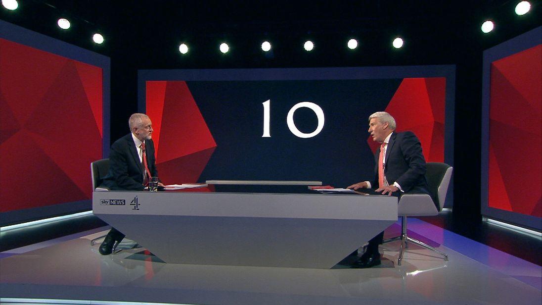 Jeremy Corbyn and Jeremy Paxman