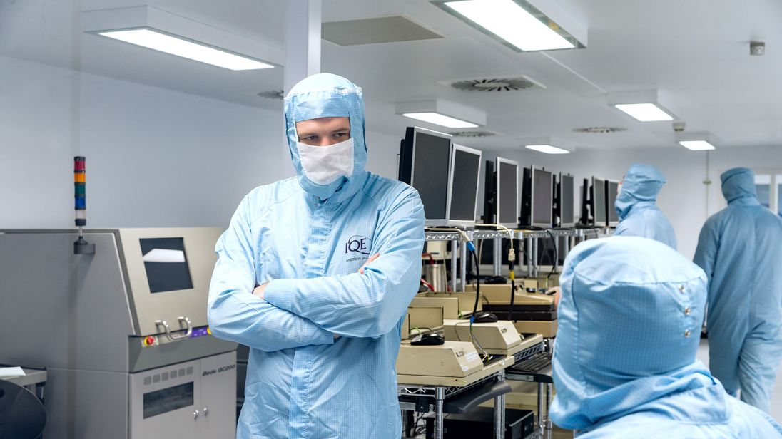 Researchers at Cardiff University, where local semiconductor business IQE has been contributing to research developments.