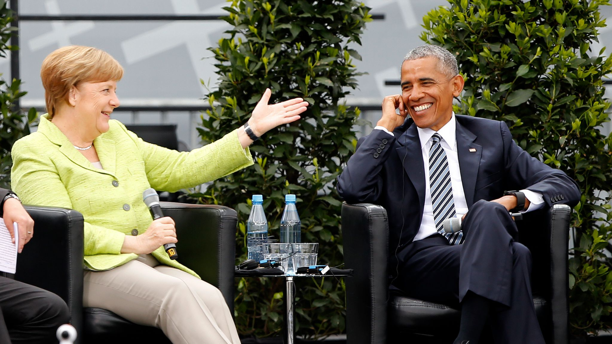 A tale of two presidents: Angela Merkel meets Obama and Trump   World News
