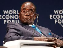 Robert Mugabe at the World Economic Forum in Durban