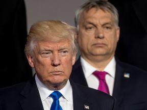 President Trump with Hungary's prime minister Viktor Orban