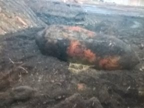 The unexploded German WWII bomb weighs 250kg. Pic: West Midlands Ambulance Service