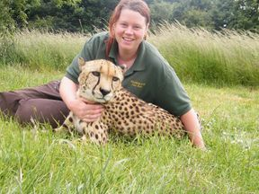 Rosa King with one of the big cats she looked after