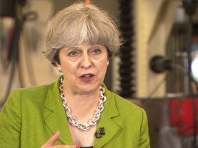 Theresa May repeatedly explains her logic for not participating in a TV debate with other party leaders