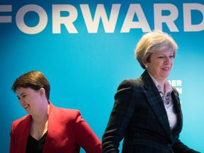 Conservative leader Theresa May and Scottish Conservative leader Ruth Davidson