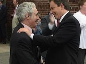 Tony Blair with John Burton in 1997