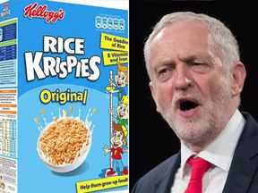Jeremy Corbyn and Rice Krispies