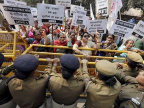 A protest in Delhi