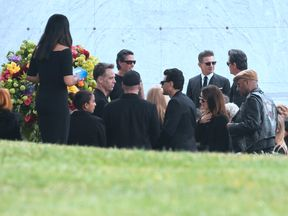 People attend the funeral service for Soundgarden frontman Chris Cornell on May 26, 2017 at the Hollywood Forever Cemetery in Los Angeles, California