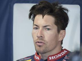 Nicky Hayden rides for the Red Bull Honda team