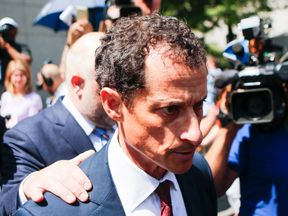 Anthony Weiner leaves court on Friday
