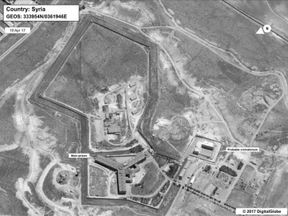 Satellite images from the US State Department show where the crematorium is believed to be