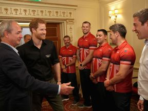 Prince Harry meets members of the UK's Invictus Games team