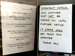 Cyber attack on NHS