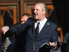 Poet Tony Walsh reads out his poem This Is The Place - Forever Manchester