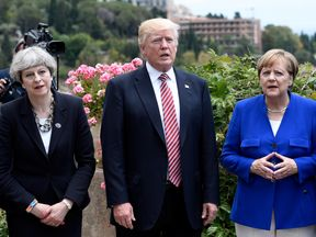Mrs May has used the G7 summit in Sicily to urge other world leaders to bring about action