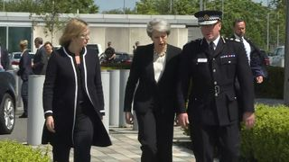 The Prime Minister arrives in Manchester following a terrorist attack at the Arena