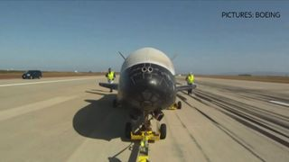 An unmanned X-37B has landed at NASA's Kennedy Space Center after a two-year mission.