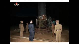 Kim Jong Un watches latest missile launch
