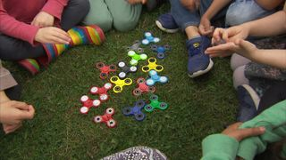 Fidget spinners are the latest must have toy