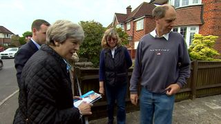 Theresa May out and about on the election campaign