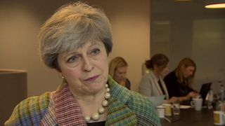 Prime Minister Theresa May on NHS funding and cyberattack