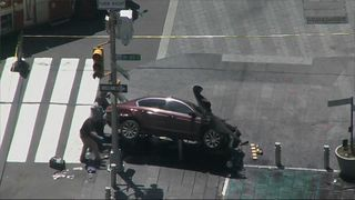Officials are now examining the crashed car