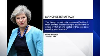 Theresa May gives her reaction to the terrorist attack in Manchester.